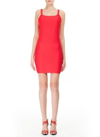 Emporio Armani  Askılı Kare Yaka Mini Elbise Kadın Elbıse 262662 0P307 00074 Kırmızı